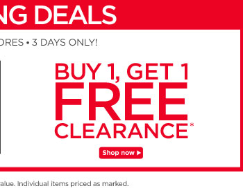 Buy 1, Get 1 Free Clearance