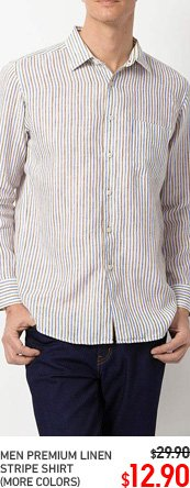 MEN LINEN STRIPED SHIRT