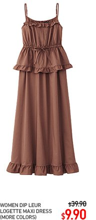 WOMEN DIP LEUR LOGETTE MAXI DRESS