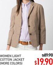 WOMEN LIGHT COTTON JACKET