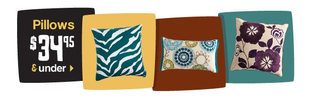 Pillows $34.95 and under