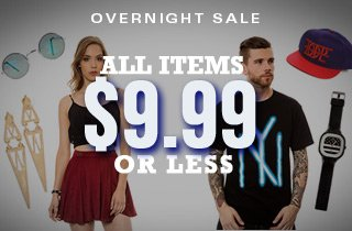 All Items $9.99 or Less