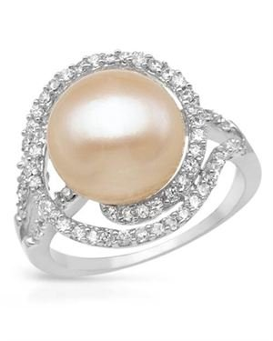 Ladies Freshwater Pearl Ring Made Of 925 Sterling Silver