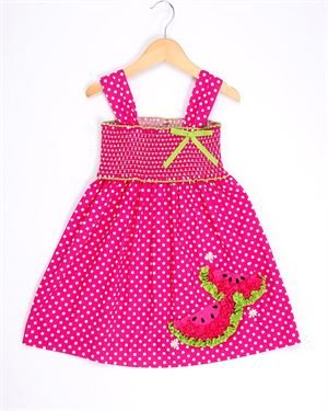 Bonnie Jean Polka Dot Watermelon Dress