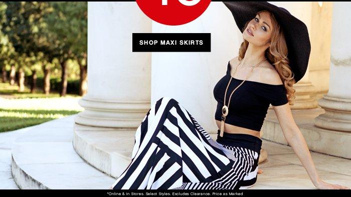 Shop 40% OFF Maxi Skirts