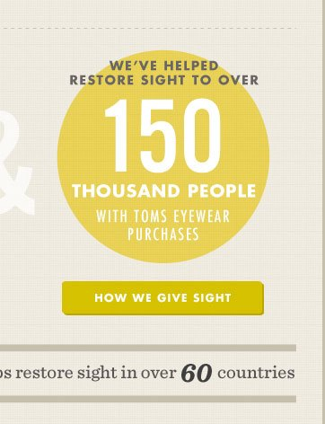 We've helped restore sight to over 150,000 people with TOMS eyewear purchases - How sight giving works