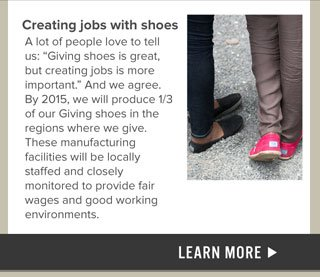 Creating jobs with shoes - learn more
