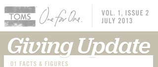 TOMS Giving Update - Vol. 1, Issue 2
