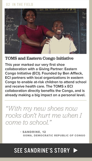 TOMS and Eastern Congo Initiative - See Sandrine's story