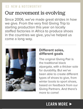 Our movement is evolving - different soles, different goals
