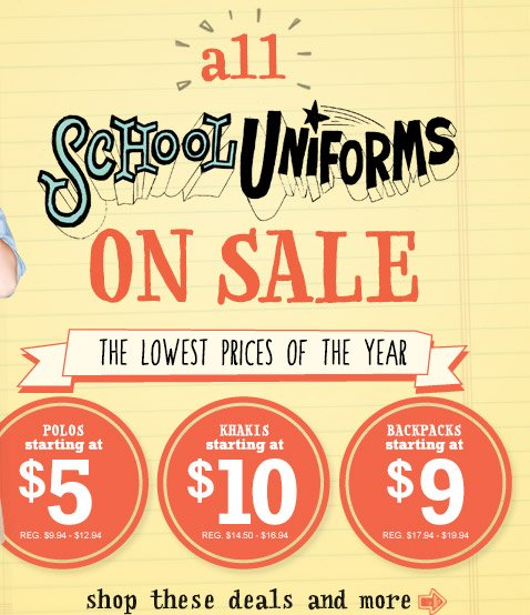 all SCHOOL UNIFORMS ON SALE | THE LOWEST PRICES OF THE YEAR | shop these deals and more