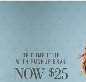 Or Bump It Up With Pushup Bras | Now $25