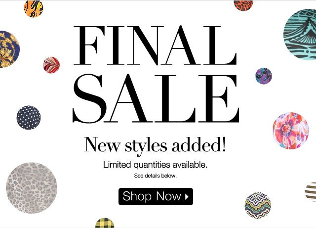 Final Sale New Styles Added!