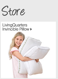 NEW! IN OUR HOME STORE LivingQuarters Invincible Pillow