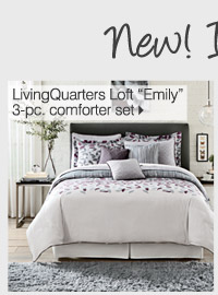 NEW! IN OUR HOME STORE LivingQuarters Loft Emily 3-pc. comforter set