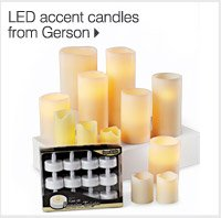 NEW! IN OUR HOME STORE LED accent candles from Gerson