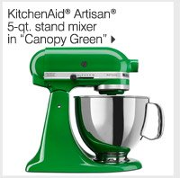 NEW! IN OUR HOME STORE KitchenAid® Artisan® 5-qt. stand mixer in Canopy Green
