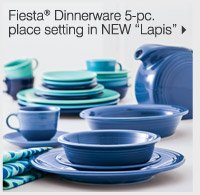 NEW! IN OUR HOME STORE Fiesta® Dinnerware 5-pc. place setting in NEW Lapis