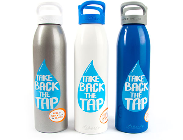 Three limited edition reusable water bottles