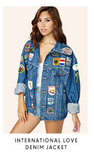International Love Denim Jacket