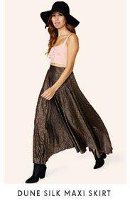 Dune Silk Maxi Skirt