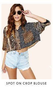 Spot On Crop Blouse