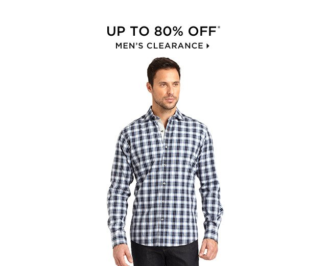 Up To 80% Off* Men's Clearance