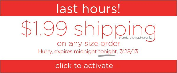 Last day! $1.99 Shipping