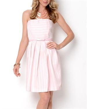 Shelby & Palmer Strapless Striped Dress