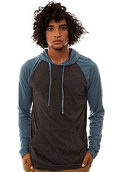 The Castro Pullover Hoody in Charcoal Heather