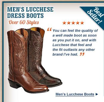 All Mens Lucchese Dress Boots on Sale