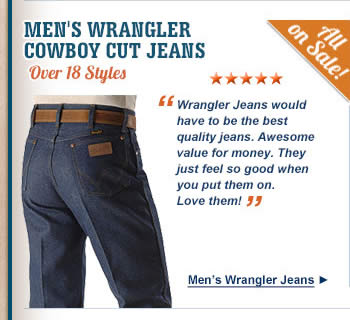 All Mens Wrangler Cowboy Cut Jeans