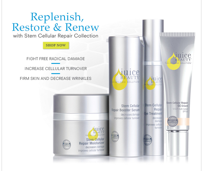 Replenish, Restore & Renew with Stem Cellular Repair Collection