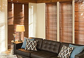 Custom Real and Faux Wood Blinds