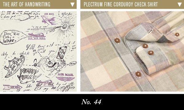 The Art of Handwriting | Plectrum Fine Corduroy Check Shirt