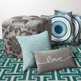 Turquoise & Gray: Textiles