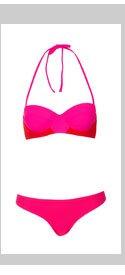Red Colourblock Bikini