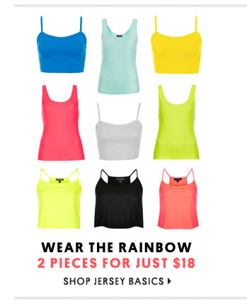 Wear the rainbow - Shop jersey basics