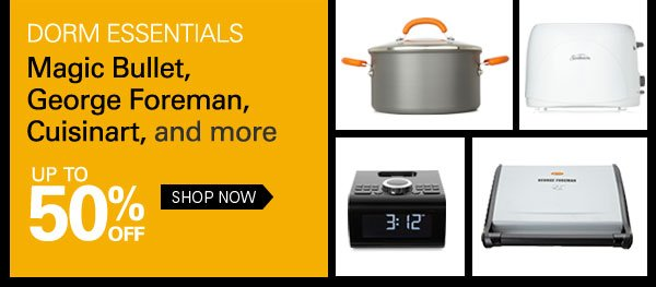 Dorm essentials: Magic Bullet, George Foreman, Cuisinart, and more Up to 50% off Shop Now