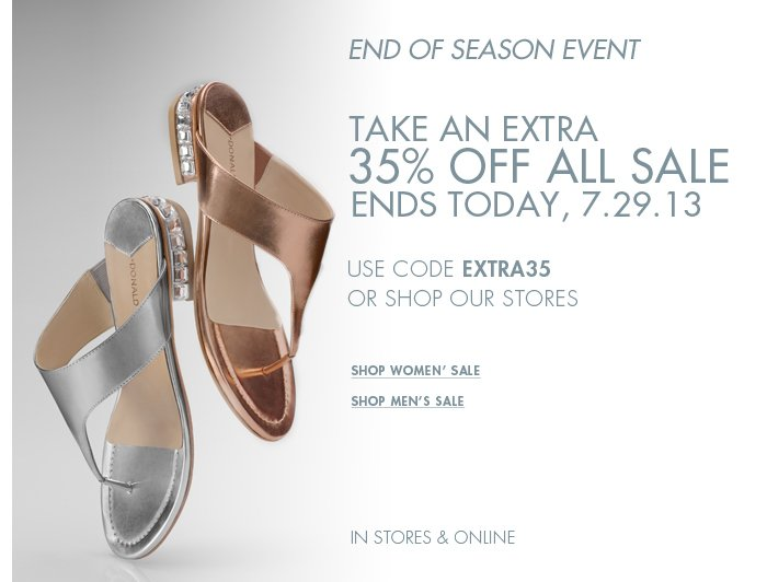 Save 35% Off All Sale Ends Today