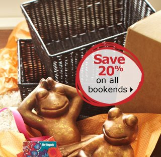 Save 20% on all bookends