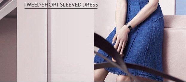 Tweed Shortsleeve Dress