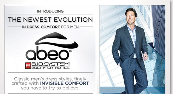 NEW Feature of the Week: Enjoy FREE 2nd Day Shipping on the NEW ABEO B.I.O.system dress comfort styles for men!* Featuring classic designs crafted with invisible comfort, experience balanced weight distribution and reduced shock and stress on joints. Shop now to find the best selection online and in stores at The Walking Company.