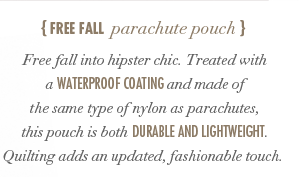 Free Fall Parachute Pouch