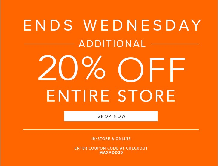 Additional 20% off Entire Store