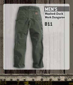 Men's Washed Duck Dungaree