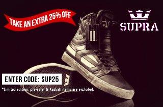 SUPRA: 25% Off Select Items