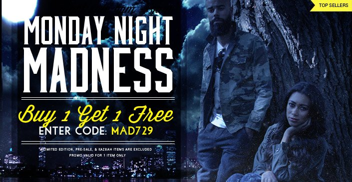 Click to shop Monday Night Madness BOGO