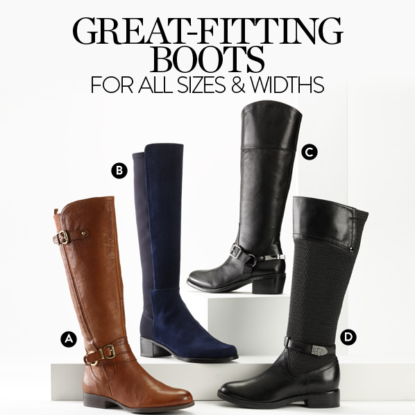 GREAT-FITTING BOOTS FOR ALL SHAPES & SIZES