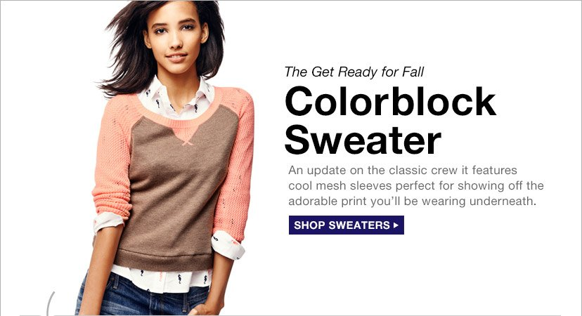 The Get Ready for Fall | Colorblock Sweater | SHOP SWEATERS